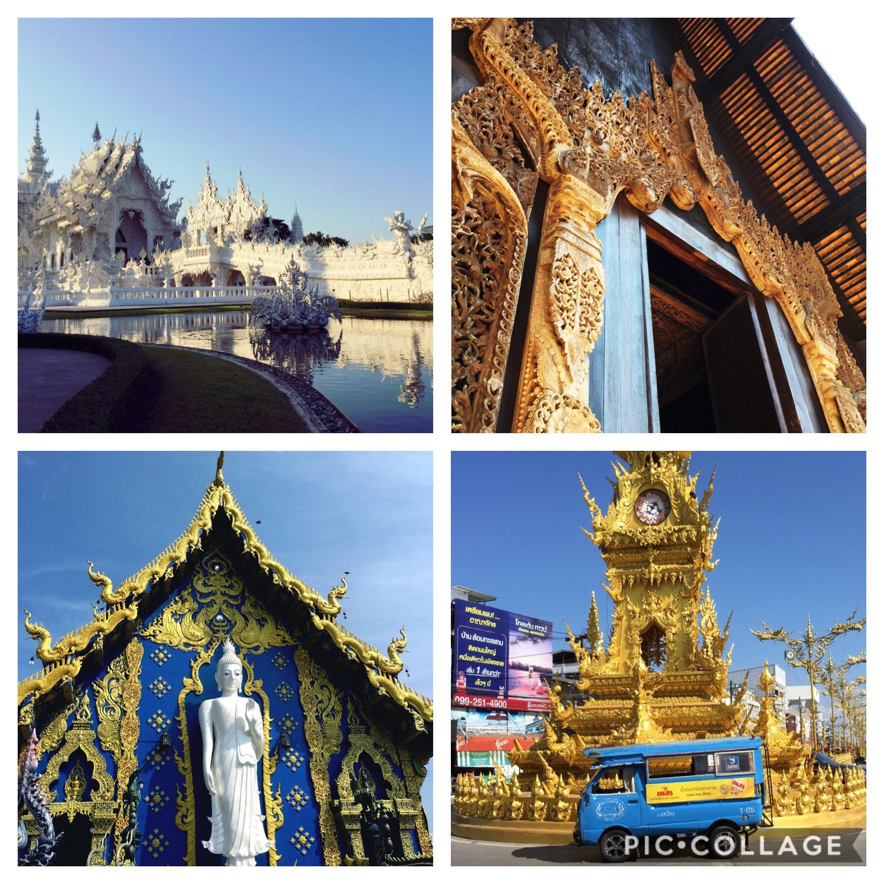 Les richesses culturelles de Chiang Rai- White temple-Black house-Blue temple-Clock tower