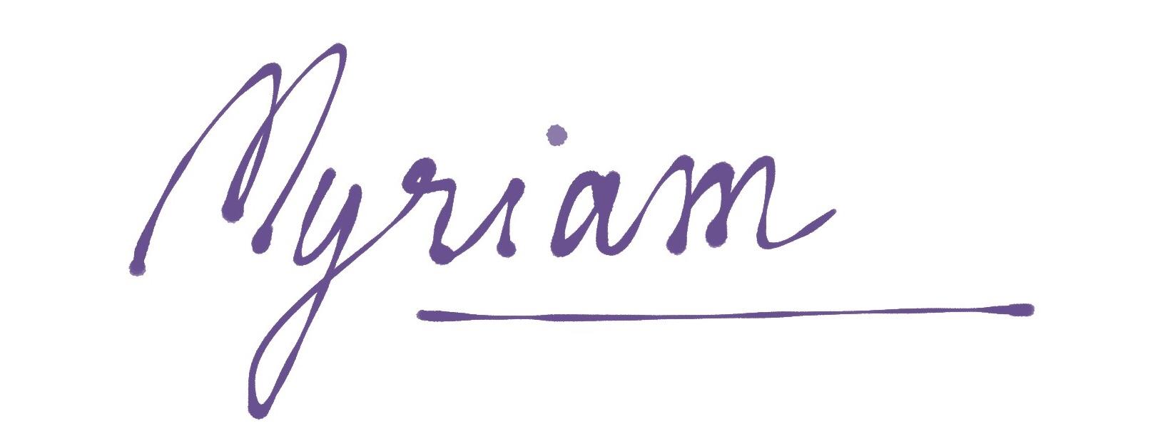 signature Myriam